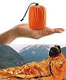 HONYAO Saco de Dormir Emergencia, Mantas Termica de Aluminio, Supervivencia Bivy para Vivac, Cámping, Excursionismo, Trekking