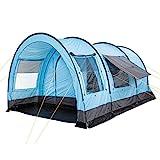 CampFeuer Tienda de Campaña Familiar Relax6 I 6 Personas I Columna de Agua de 5.000 mm I Tipo Túnel con Dormitorio Separado I...