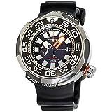 Citizen Eco-drive bn7020–17E para hombre goma titanio banda negro cuarzo dial reloj