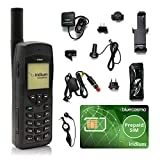 BlueCosmo Paquete de teléfono satelital Iridium 9555 (Voz, Mensajes de Texto SMS - Rollover) * Incluye Prepaid SIM